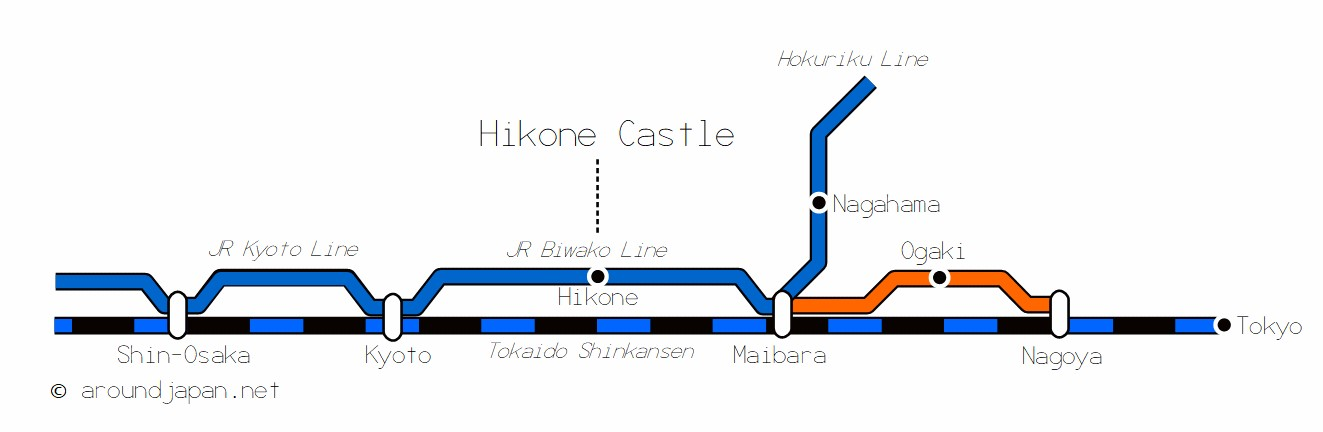 Hikone Castle > Access